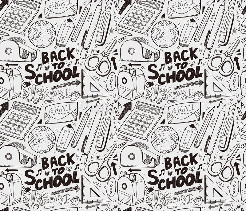 Seamless School Pattern Royalty Free Stock Images