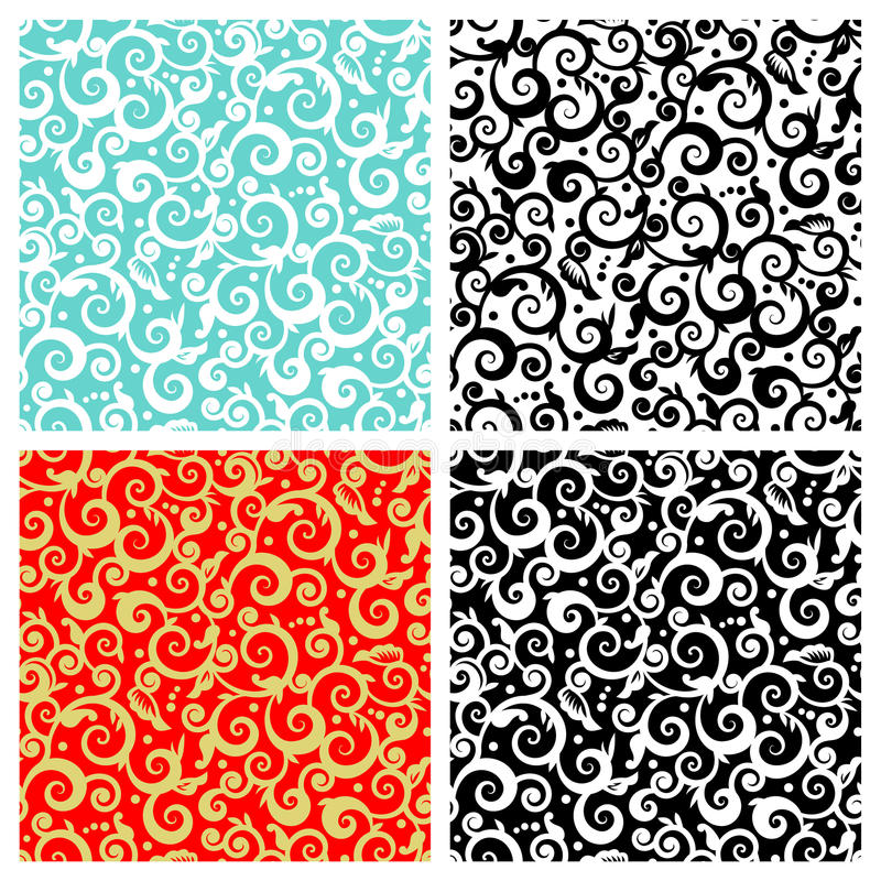 Free Seamless Scrolls Patterns Royalty Free Stock Photo - 14337175