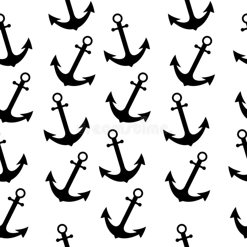 Seamless sea sailor pattern with anchor. Abstract repeat background, cartoon vector illustration can be used as textile printing, vector illustration