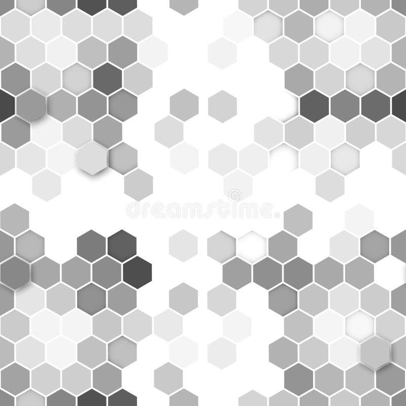 seamless sexhörnig modell Upprepa som är geometriskt stock illustrationer