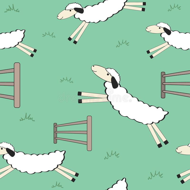 Seamless Sheep Background Stock Photos