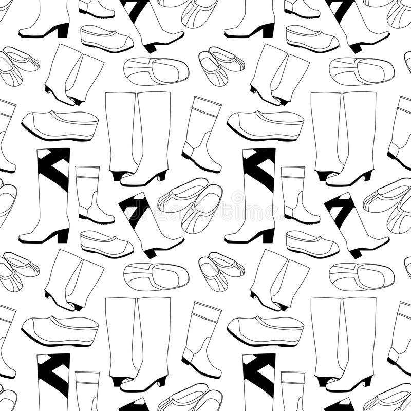 Download Seamless Shoes Pattern Royalty Free Stock Image - Image: 19150476