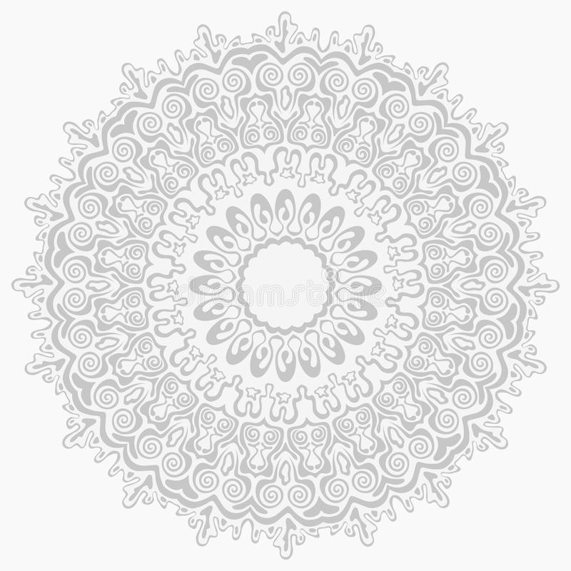 Seamless silver abstract ornament pattern royalty free stock photography