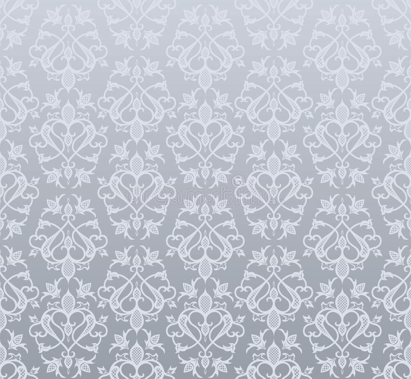 Download Seamless silver wallpaper stock vector. Illustration of repeat - 10903991