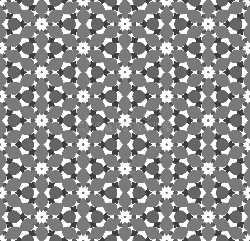 Seamless simple black & white B&W abstract  geometry pattern royalty free illustration