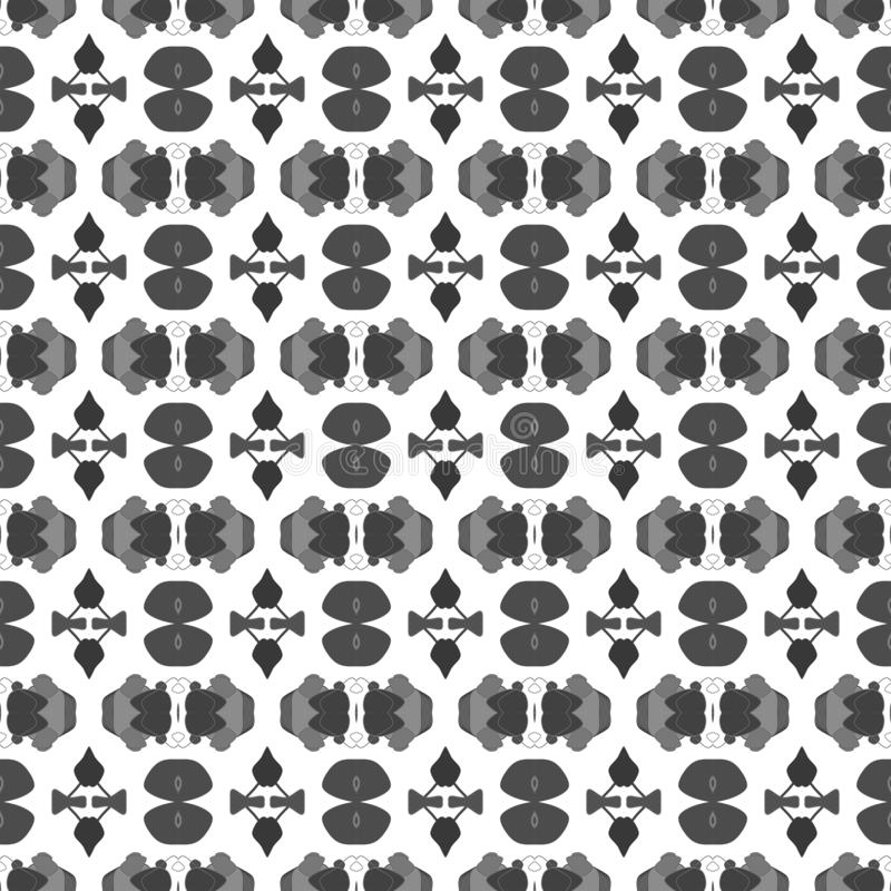 Seamless simple black & white B&W abstract  geometry pattern vector illustration