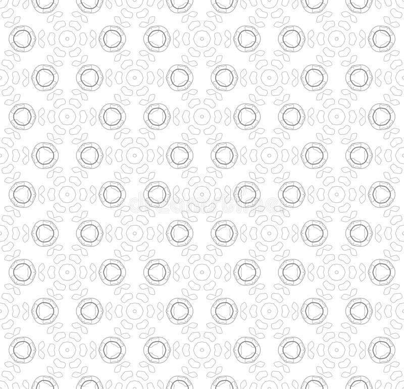 Seamless simple black & white B&W abstract  geometry pattern stock illustration