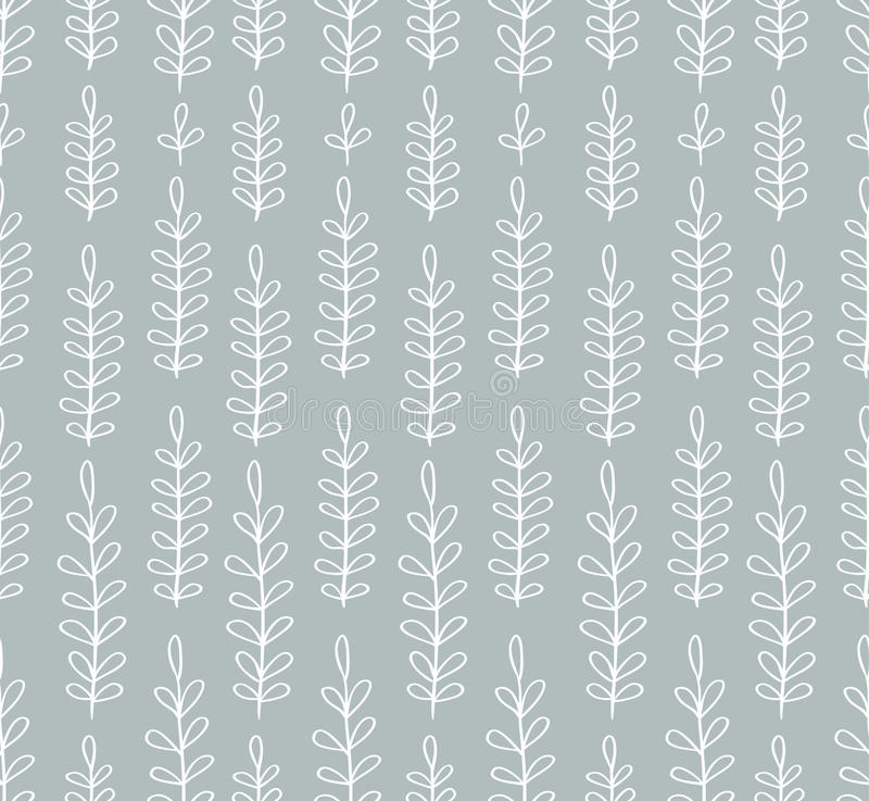 Seamless simple floral pattern stock illustration