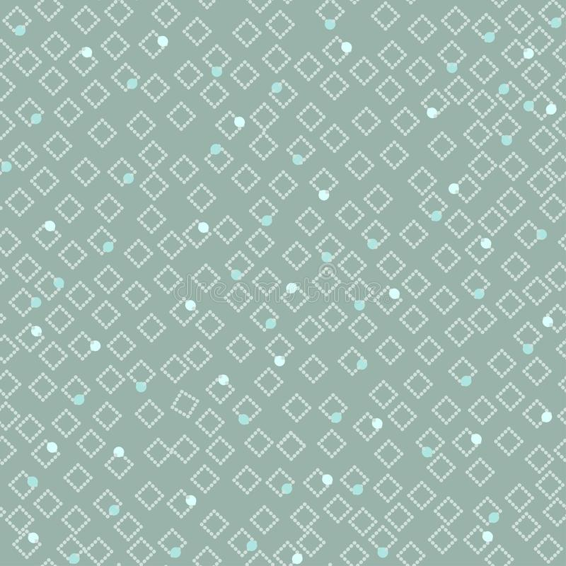 Seamless simple light pattern of pink dots and diamonds royalty free illustration