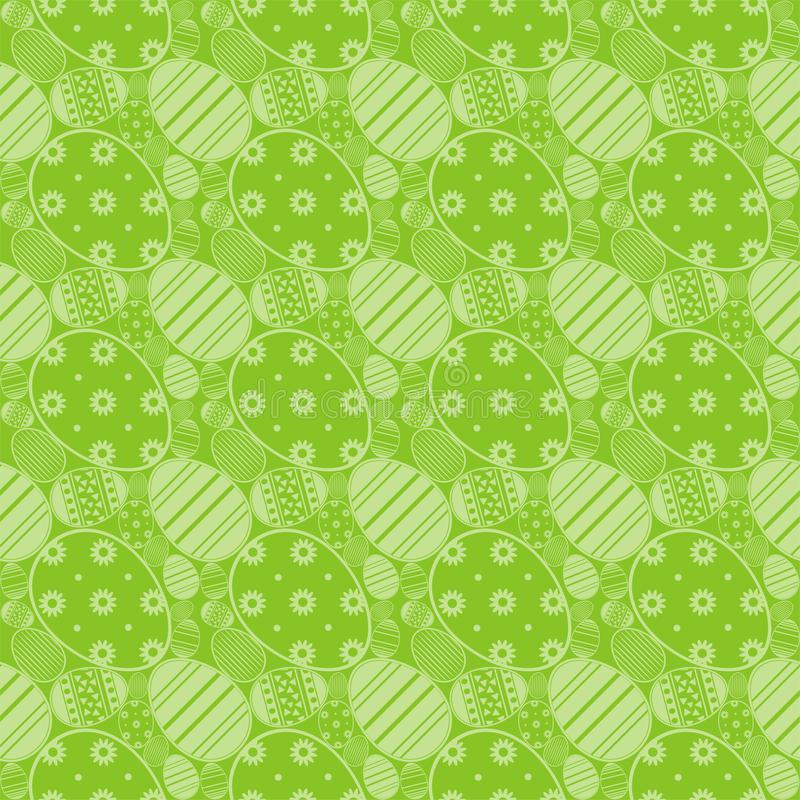 Seamless simple pattern with ornamental Collection of Flat icon Design Easter eggs stock illustration
