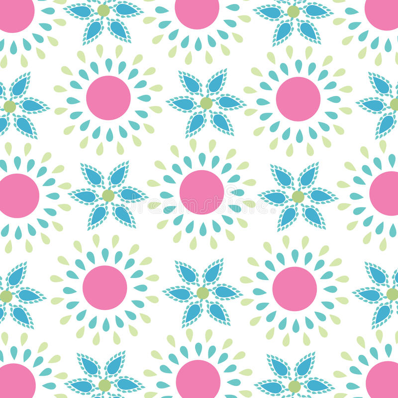 Seamless simple spring flowers pattern stock illustration