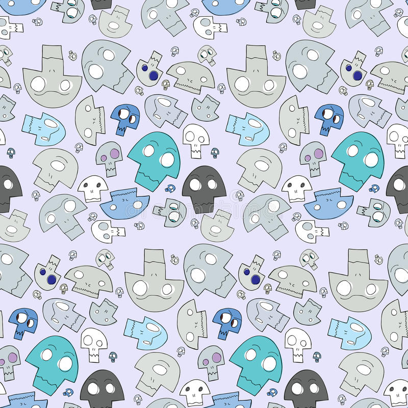Download Seamless Skull Pattern stock vector. Image of cyclops - 22168601