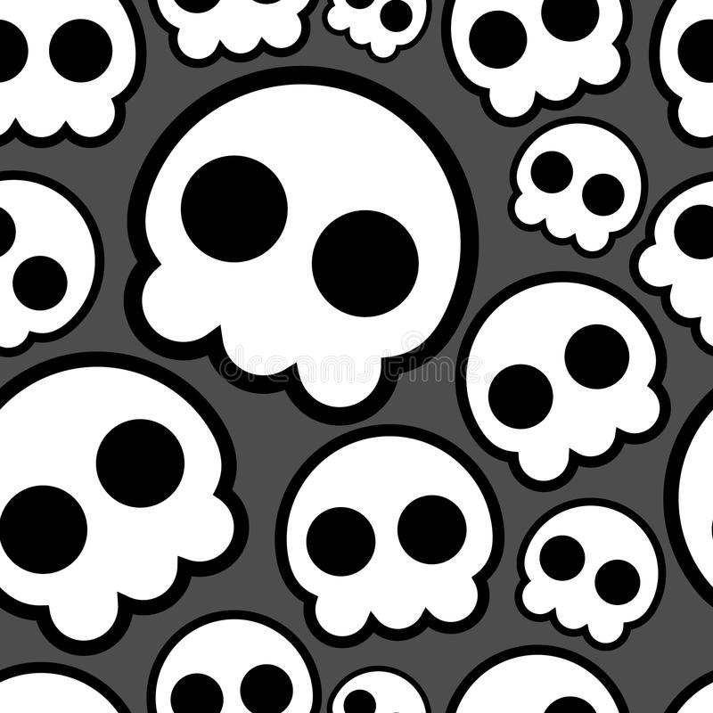 Download Seamless skulls stock vector. Image of background, halloween - 18035592
