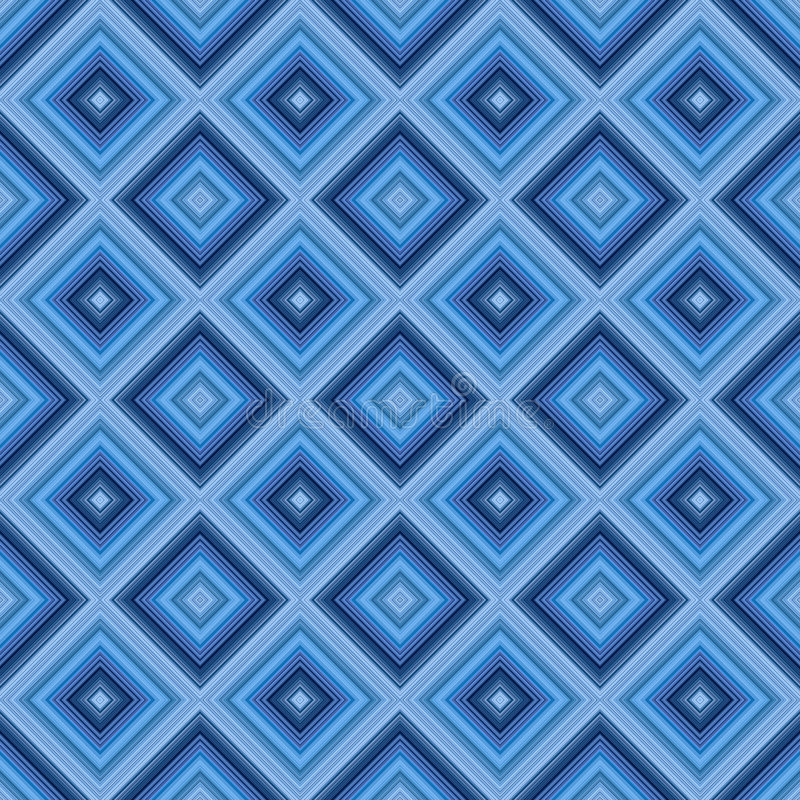 Seamless small blue diamond pattern background. royalty free illustration