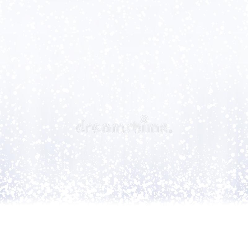 seamless snow fall background royalty free illustration