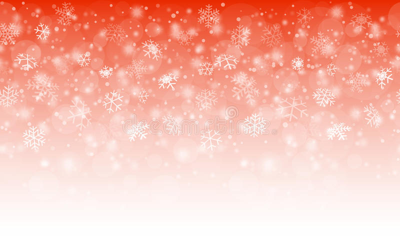 Seamless snow fall background. Seamless white snow fall background with gradient colors red to white vector illustration