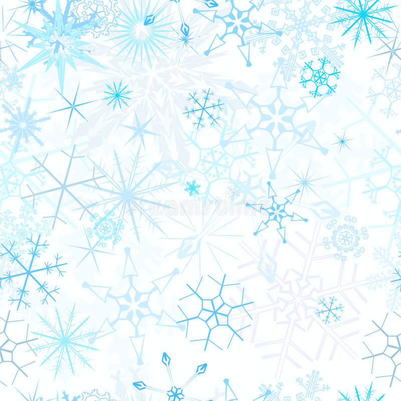 Seamless snowfall background. Snowflake patterned seamless swatch vector vector illustration