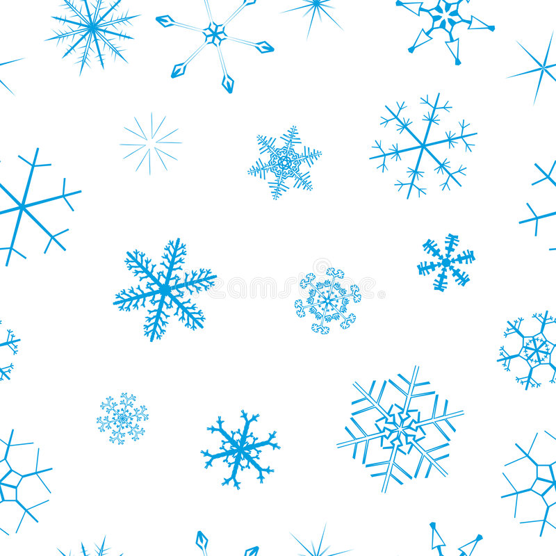 Seamless snowflake background. Seamless background with cute blue snowflakes vector illustration
