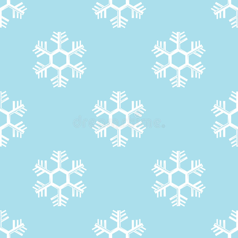 Seamless snowflake background vector royalty free illustration