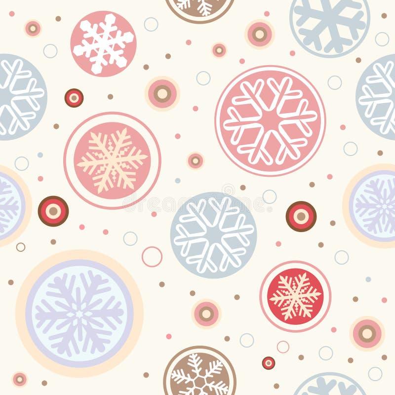 seamless snowflake för bakgrund vektor illustrationer