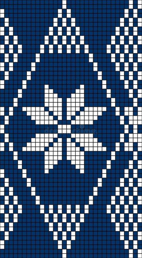 Seamless Snowflake Knit Pattern Stock Vector ...