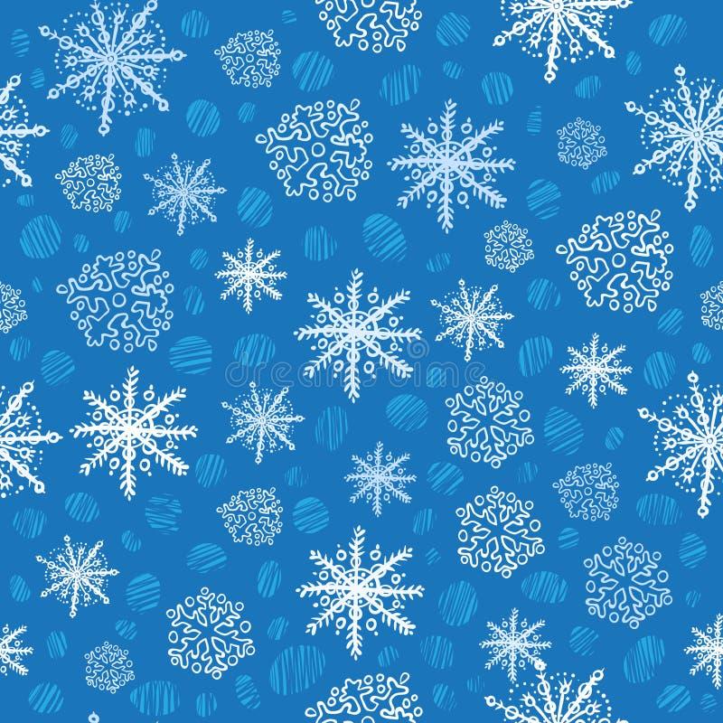 Download Seamless snowflake pattern stock illustration. Image of snow - 12000431