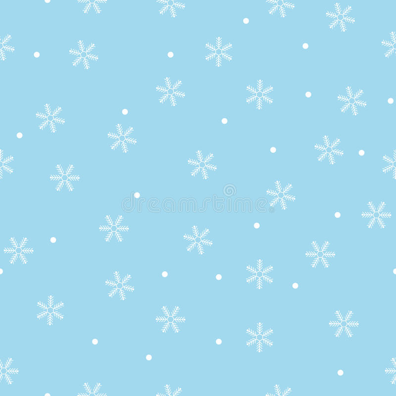 Download Seamless Snowflake Pattern Blue Background Stock Vector - Image: 27043727