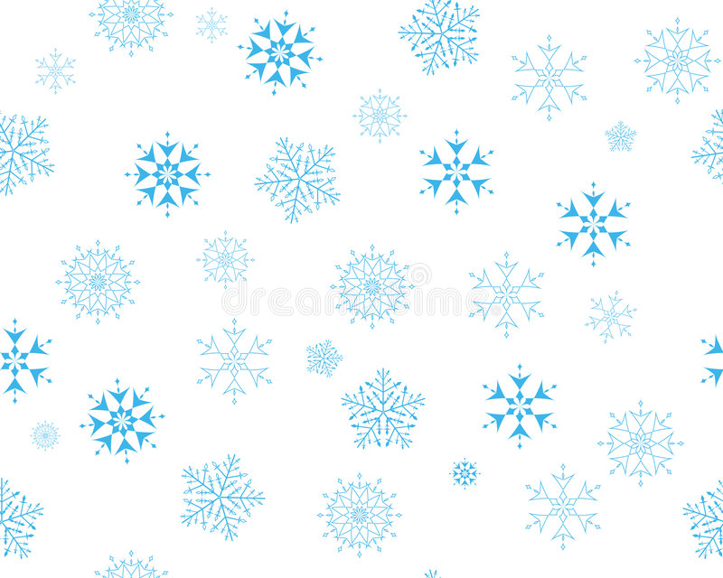 Download Seamless snowflakes stock vector. Image of christmas, backgrounds - 7340518