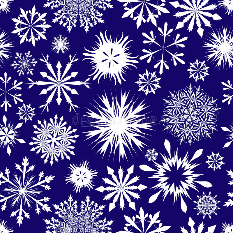 Seamless snowflakes background stock images