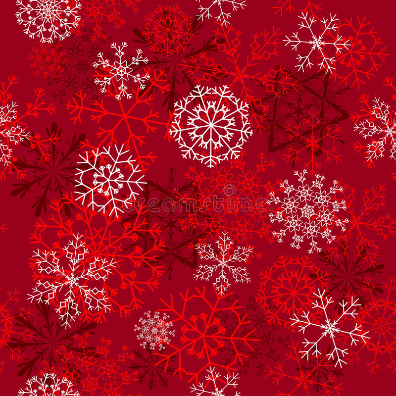 Seamless snowflakes background royalty free stock photography