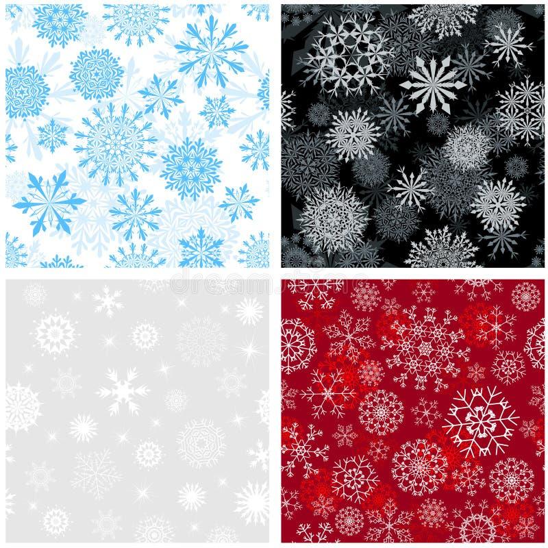 Seamless snowflakes background stock photo