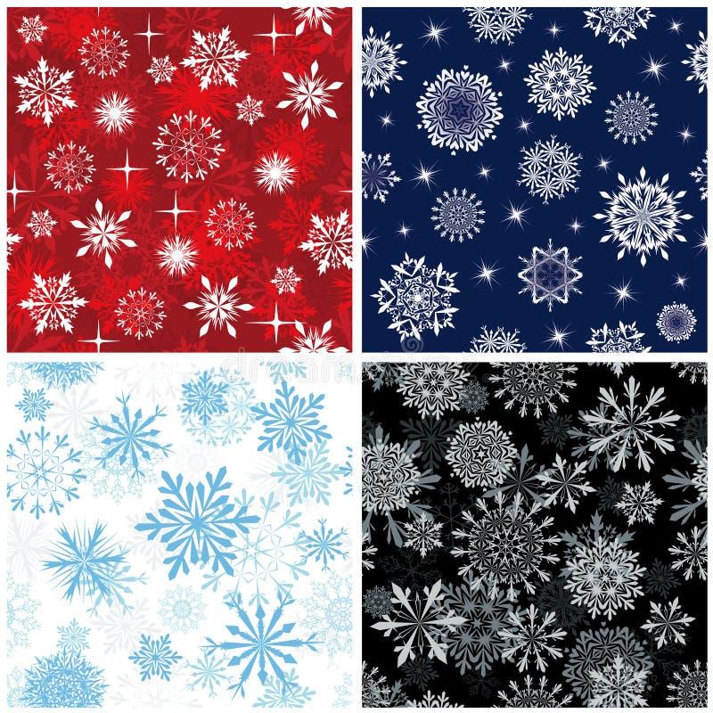 Seamless snowflakes background royalty free stock photo