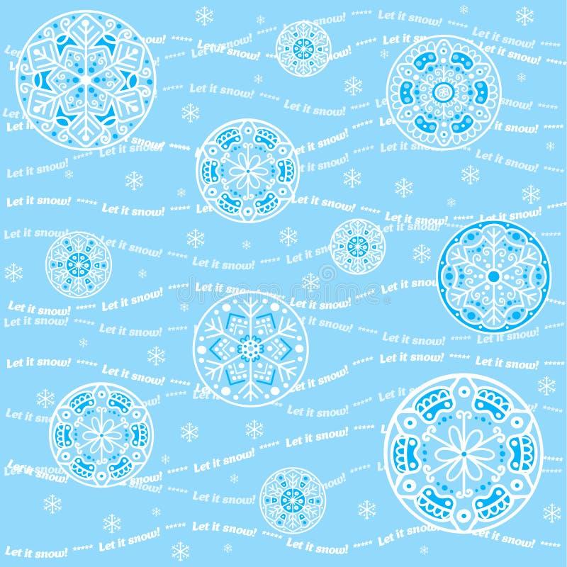 Seamless snowflakes background - Let it snow