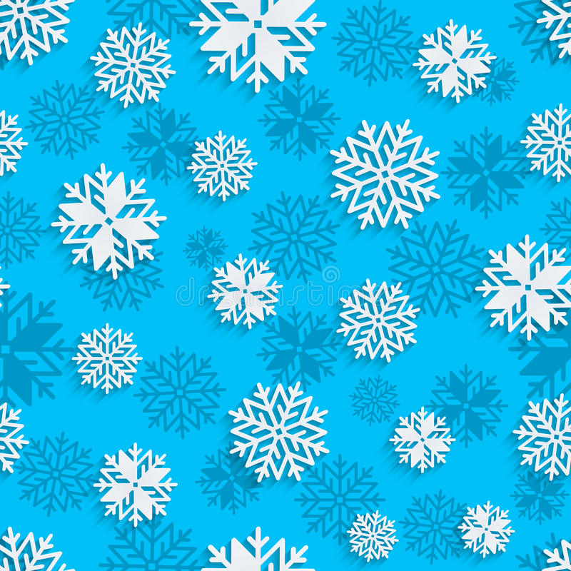 Seamless snowflakes background for winter, christmas theme and holiday cards vector illustration