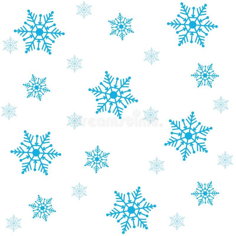 seamless snowflakes för bakgrund stock illustrationer