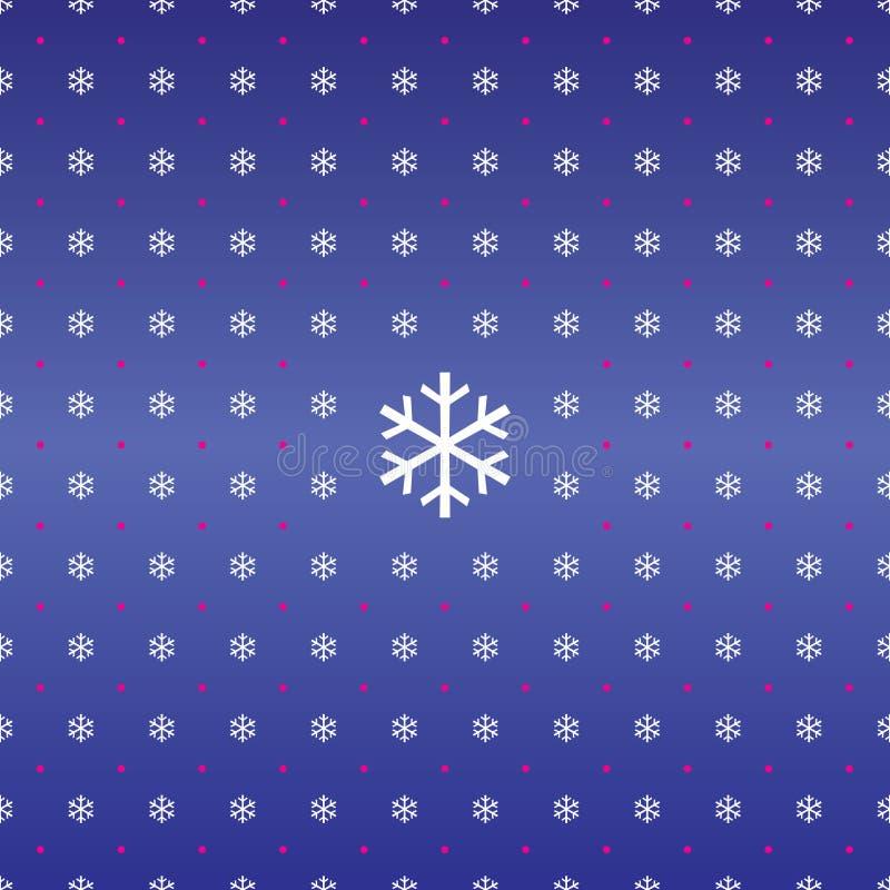 seamless snowflakes för bakgrundsjul stock illustrationer