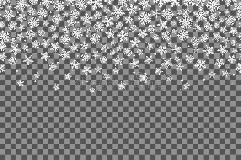 seamless snowflakes för modell stock illustrationer