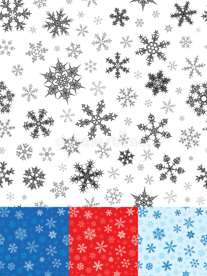 seamless snowflakes för modell arkivfoton