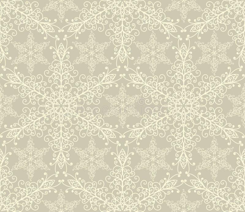 seamless snowflakes för modell royaltyfri illustrationer