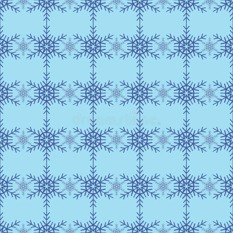 seamless snowflakes för modell Tappningvinterbakgrund Alla element is lager separat i vektormapp royaltyfri illustrationer