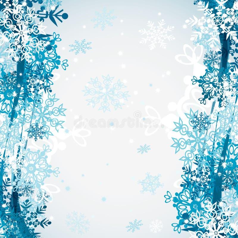 Seamless snowflakes modell, vektor stock illustrationer