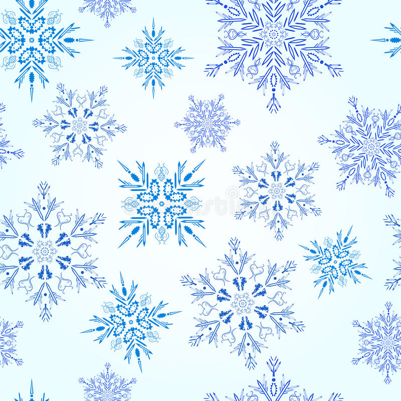 Download Seamless Snowflakes Pattern Stock Vector - Image: 21670419
