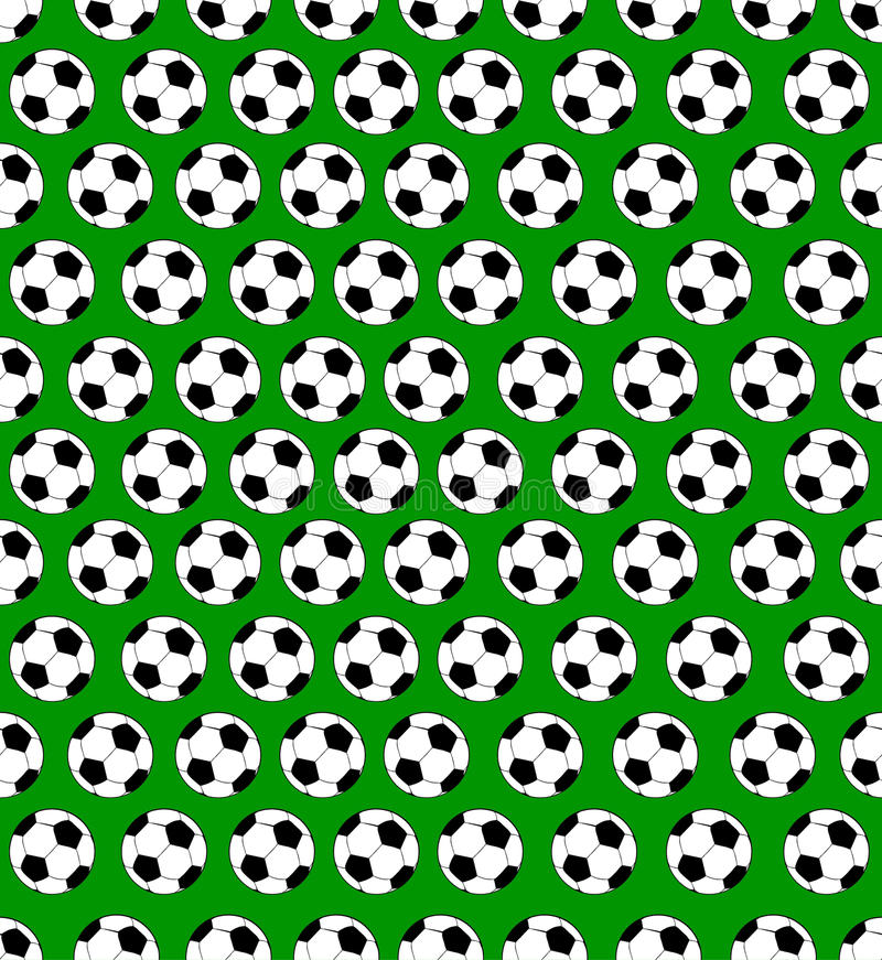 Seamless Soccer Ball Pattern Stock Vector - Image: 49784358