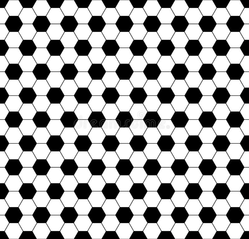 Seamless soccer football hexagon background black texture. Vector soccer backdrop sport concept.  royalty free illustration