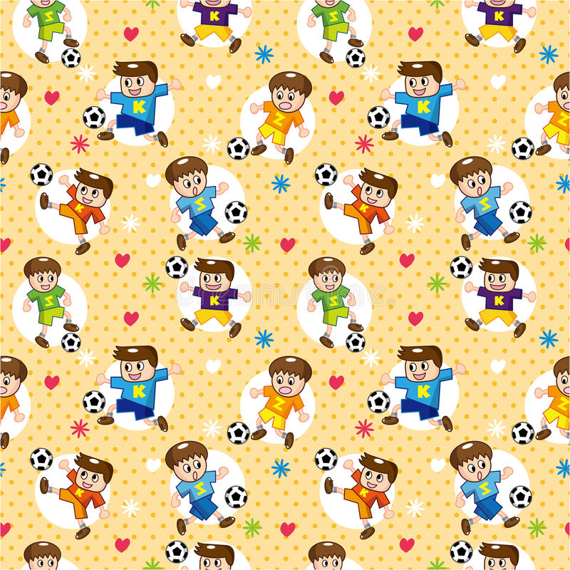 Download Seamless Soccer Player Pattern Stock Vector - Illustration: 18534805