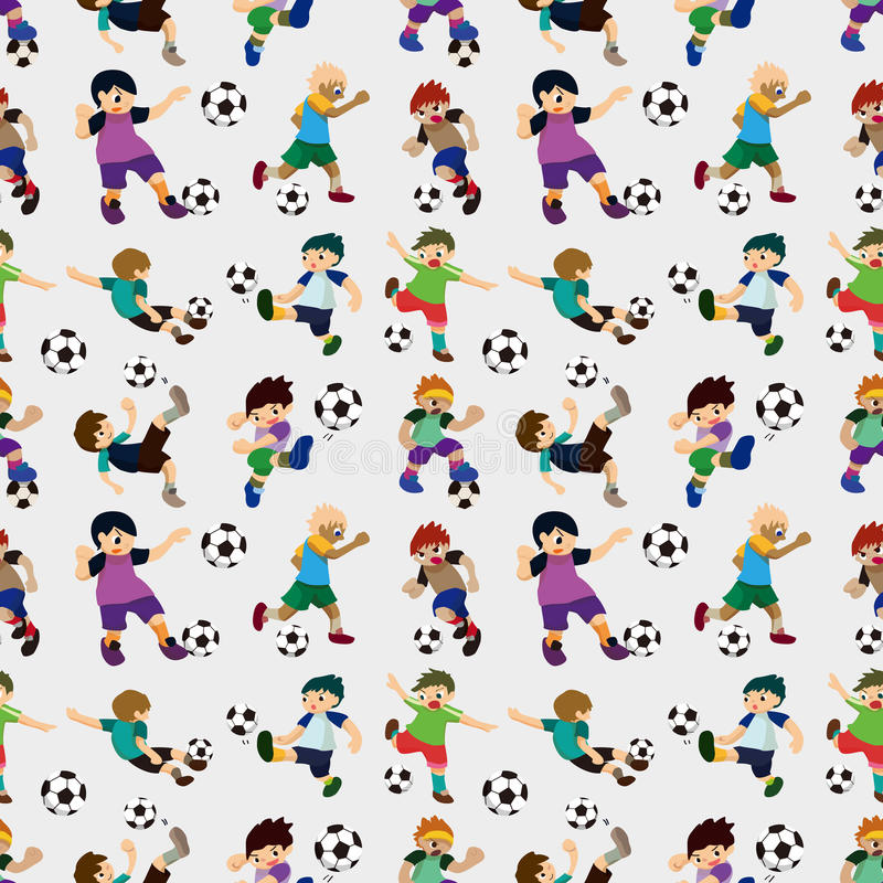 Download Seamless Soccer Player Pattern Stock Vector - Image: 27772012