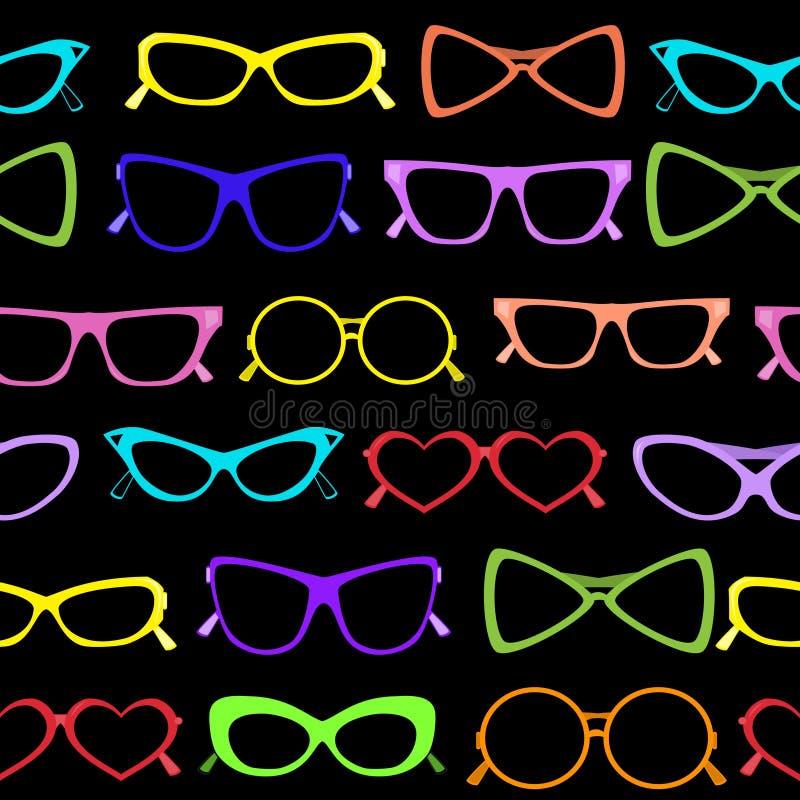 Seamless of solar glasses. Vector illustration vector illustration