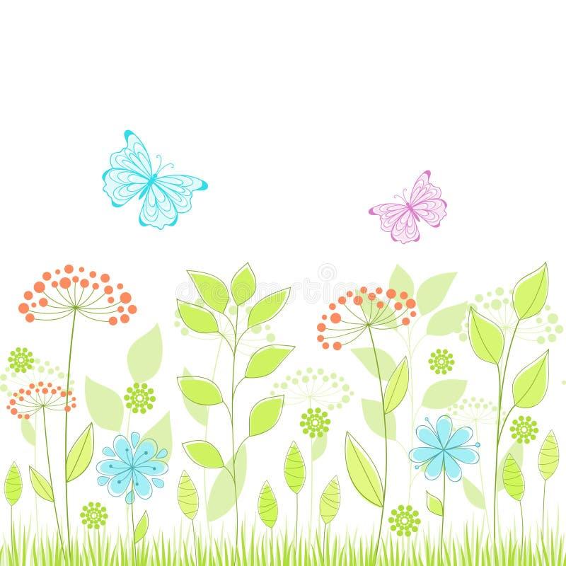 seamless sommar för bakgrund vektor illustrationer