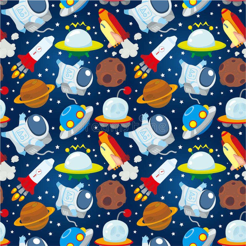 Download Seamless space pattern stock vector. Image of global - 19487861