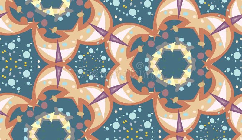 Seamless Sparkles och prickmodell vektor illustrationer